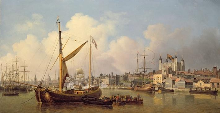 The Thames and the Tower of London supposedly on the King's Birthday, 1771