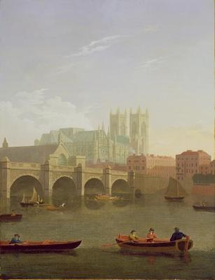 Westminster Abbey and Westminster Bridge Seen from the South, 1794