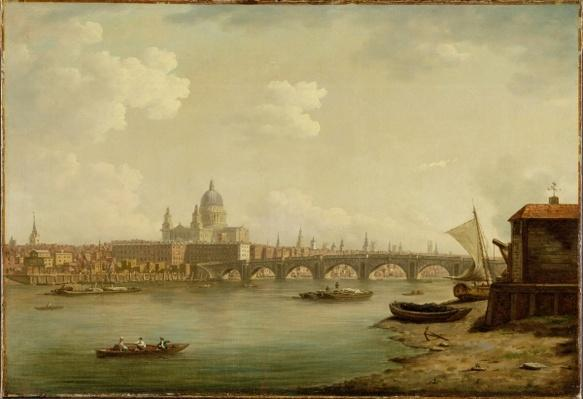 St. Paul's and Blackfriars Bridge, London, c.1770-2