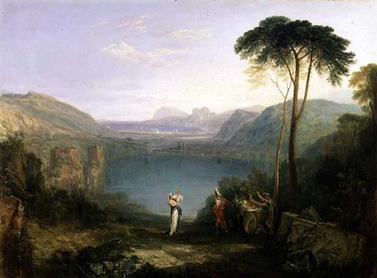 Lake Avernus: Aeneas and the Cumaean Sibyl, c.1814-5