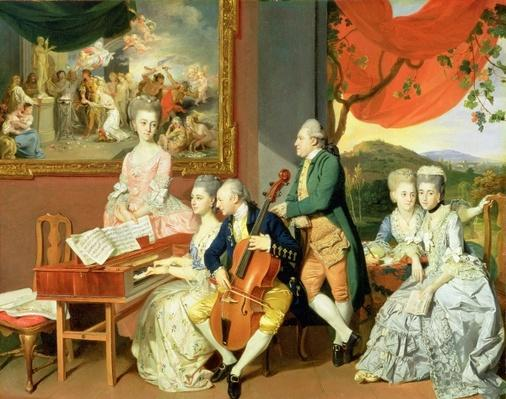 George, 3rd Earl Cowper, with the Family of Charles Gore, c.1775