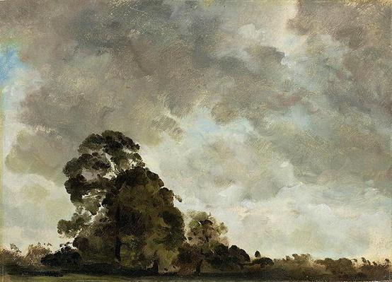 Landscape at Hampstead, Tree and Storm Clouds, c.1821
