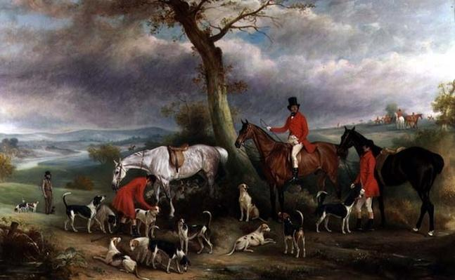 Thomas Wilkinson, M.F.H., with the Hurworth Foxhounds, 1824
