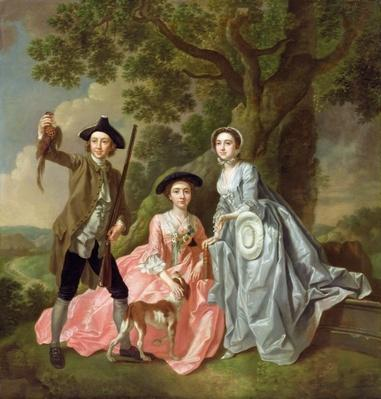George Rogers with his Wife, Margaret, and his Sister, Margaret Rogers, c.1748-50