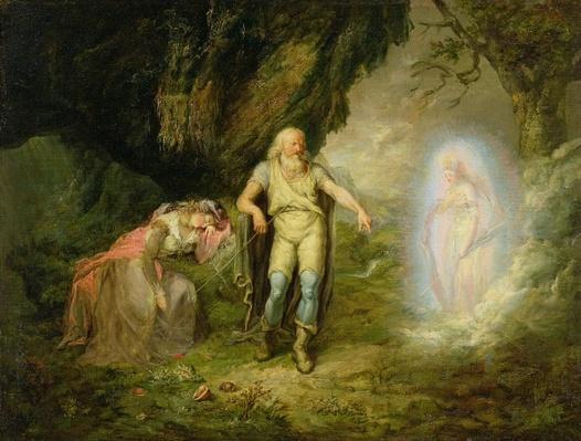 Miranda, Prospero and Ariel, from 'The Tempest' by William Shakespeare, c.1780