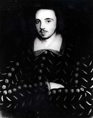 Portrait said to be Christopher Marlowe