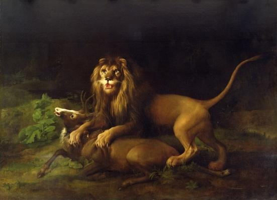 A Lion Attacking a Stag, c.1765