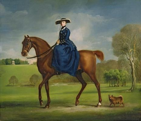 The Countess of Coningsby in the Costume of the Charlton Hunt, c.1760