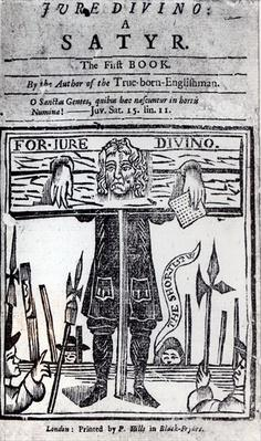 Title-page of the first book of 'Jure Divino - A Satyr' by Daniel Defoe