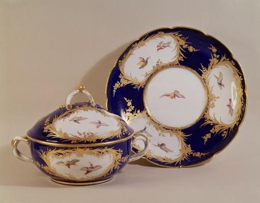 Vincennes bowl and stand, c.1745