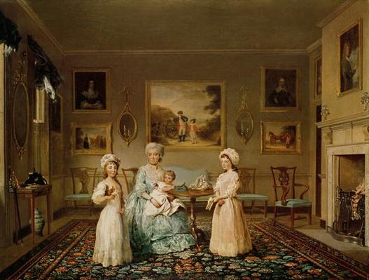 Mrs Congreve and her children in their London drawing room, 1782