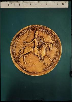 Reverse of the royal seal of Henry II