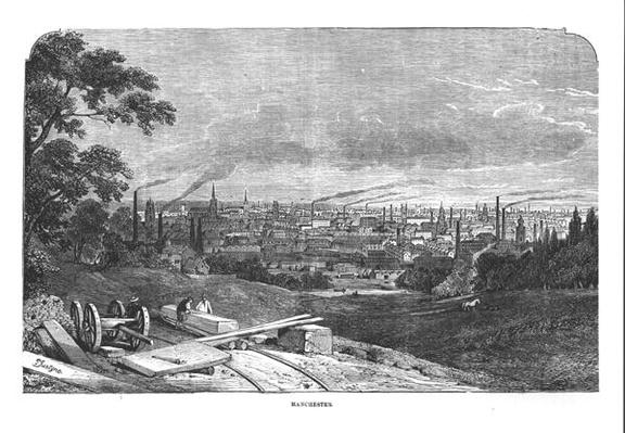 View of Manchester, engraved by T.Gustyne