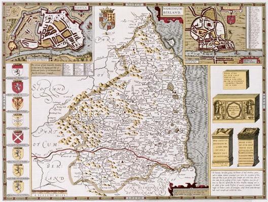 Northumberland, engraved by Jodocus Hondius