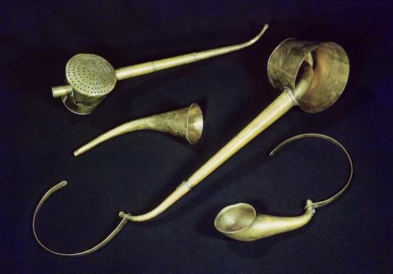 Acoustic instruments cornets belonging to Ludwig van Beethoven