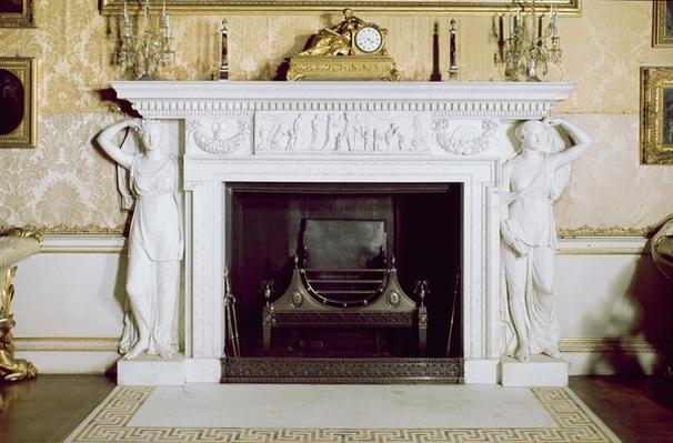 The fireplace in the state drawing room