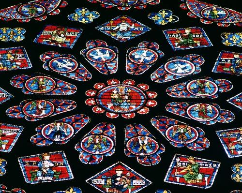 Glorification of the Virgin Mary, north rose window, c.1223