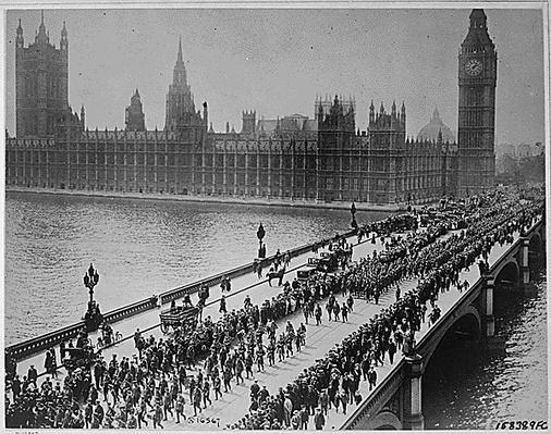 American Troops in London, 1917