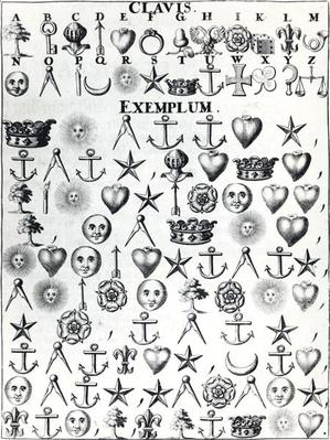 Illustration from Book 9 of 'Cryptomenysis and Cryptography' by Gustavus Selenus