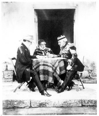Lord Raglan, Omar Pasha and General Pelissier, Crimea, 1855