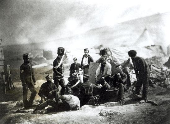 Soldiers in the Crimea, c.1855