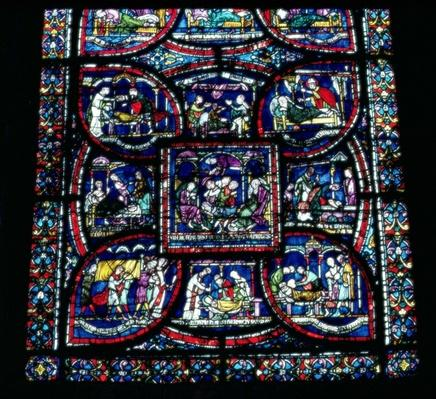 One of the Healing Miracle windows at the cathedral