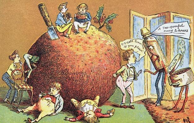 The Christmas Pudding, a Victorian christmas card