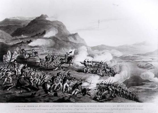 A View of the Serra de Busacco at San Antonio de Cantara showing the attack by Marshal Reigniers upon the British and Portuguese forces under Lt. Gene