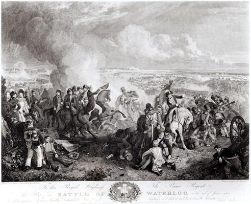 The Battle of Waterloo, 18th June 1815, engraved by John Burnet