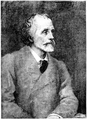 George Meredith, engraved by William Biscombe Gardner after a woodcut