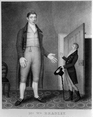 Portrait of Mr William Bradley, engraved by Freeman, 1793