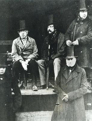 From LtoR, Lord Paget, Lord Carlisle and Isambard Kingdom Brunel