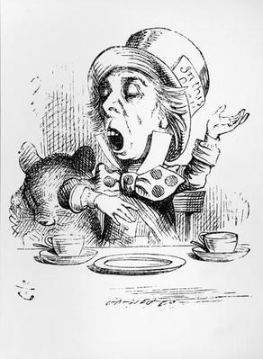 The Mad Hatter, illustration from 'Alice's Adventures in Wonderland', by Lewis Carroll, 1865