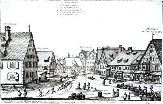German Market town, 1704