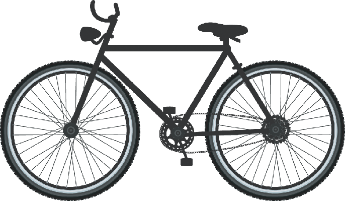 Bikes and Bicycles - Bicycle in Silhouette | Clipart