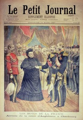 The French Hosts: the Arrival of the Queen of England at Cherbourg, front cover of 'Le Petit Journal', 14 March 1897