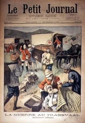 The War in the Transvaal: Indian Ambulances, front cover of 'Le Petit Journal', 17 December 1899