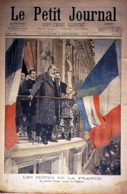 French Hosts: President Kruger Greets the Parisians, front cover of 'Le Petit Journal', 9 December 1900