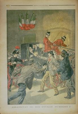The Assassination of the King of Italy, Umberto I, illustration from 'Le Petit Journal', 5 August 1900