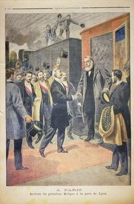 At Paris: the Arrival of President Kruger at the Gare de Lyon, illustration from 'Le Petit Journal', 9 December 1900
