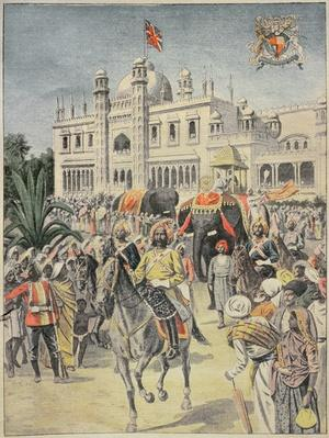 Exhibition of 1900: the Anglo-Indian Pavilion, illustration from 'Le Petit Journal', April 1900