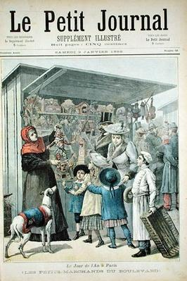 New Year's Day in Paris: The Little Stalls on the Boulevard, cover of 'Le Petit Journal', 2nd January 1892