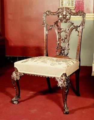 Chair, Chippendale 'Director' design, c.1760