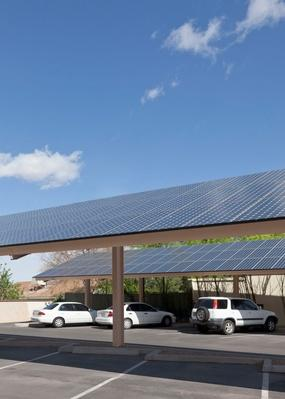Parking Lot With Solar Panel Installation | Earth's Resources