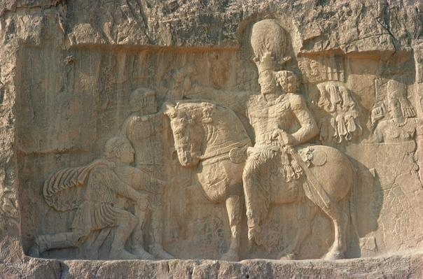 Relief depicting King Shapur I