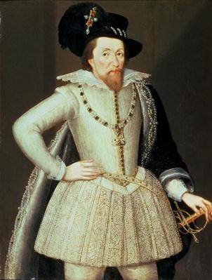 James I, half-length portrait