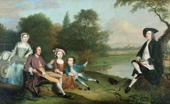 A family of Anglers, 1749