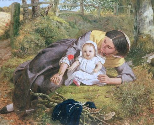 Mother and Child with a poppy