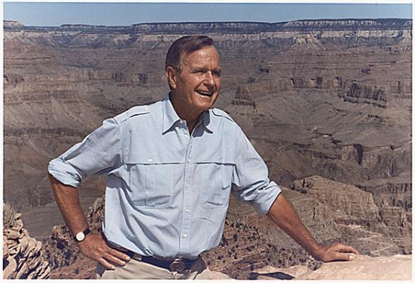 President George H.W. Bush at the Grand Canyon