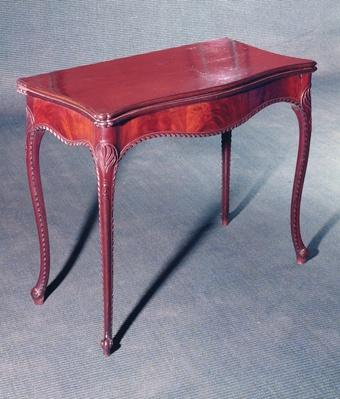 Carved card table, c.1770